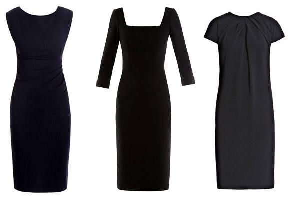 Черное или цветное платье такого.